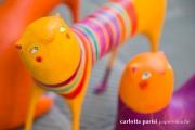 <h5>Trio di Gatti 2017 - Dettaglio</h5><p> Scultura di Carta Carlotta Parisi </p>