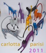 <h5>Gruppo di gatti di Carlotta Parisi</h5><p>Nove gatti di carta del 2011</p>