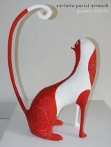 <h5>Qubo di Carlotta Parisi</h5><p>Gatto biancorosso - Su commissione.</p>
