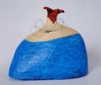 <h5>Donna azzurra con ali di ferro di Carlotta Parisi</h5><p>Scultura di cartapesta 2011.</p>