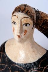 <h5>Particolare di Donna di Carlotta Parisi</h5><p>Scultura in papier-maché</p>