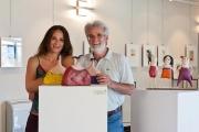 <h5>Babbo Annibale ed io alla mostra Grazie - Bagno Vignoni</h5><p>Mostra alla Sala della Condotta - Hotel Posta Marcucci, Bagno Vignoni</p>