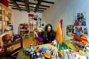 <h5>La mia bottega artistica a Montalcino</h5><p>Al lavoro sul Paper Cirkus</p>