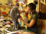 <h5>Bottega artigiana Montalcino</h5><p>Al lavoro sul Leone del Paper Cirkus.</p>