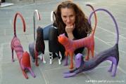 <h5>Gatti per Arezzo Expo 2102</h5><p>In strada con i miei gatti di carta.</p>