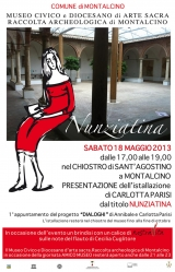 <h5>Locandina Inaugurazione</h5><p>Chiostro di Sant'Agostino - Museo di Montalcino</p>