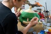 <h5>Al lavoro sulla donna Val d'Orcia</h5><p>Lavorando sui dettagli della mia scultura di cartapesta</p>