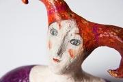 <h5>Volto di donna di Carlotta Parisi (papier-maché)</h5><p>Scultura in cartapesta della mia prima mostra Bagno Vignoni</p>