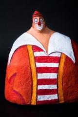 <h5>Augusto di Carlotta Parisi</h5><p>Il Pagliaccio del mio Paper Cirkus, papier-maché</p>