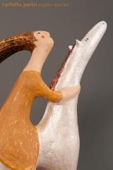 <h5>La storia, la memoria</h5><p>Scultura di papier-maché selezionata alla biennale di Santorini 2012</p>