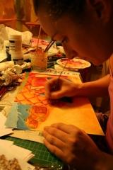 <h5>Illustrazione per Sarmede</h5><p>Disegnando nella mia bottega artigiana</p>
