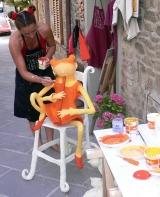 <h5>Lavorando davanti alla mia bottega a Montalcino</h5><p></p>