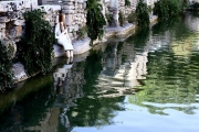 <h5>Caterina nella vasca</h5><p>Vasca di Bagno Vignoni</p>