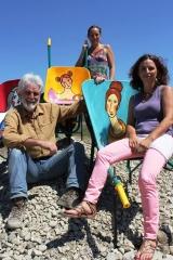 <h5>Con Giuditta e Babbo Annibale</h5><p>Foto di Donatella Cinelli Colombini sul Premio Casato Prime Donne</p>