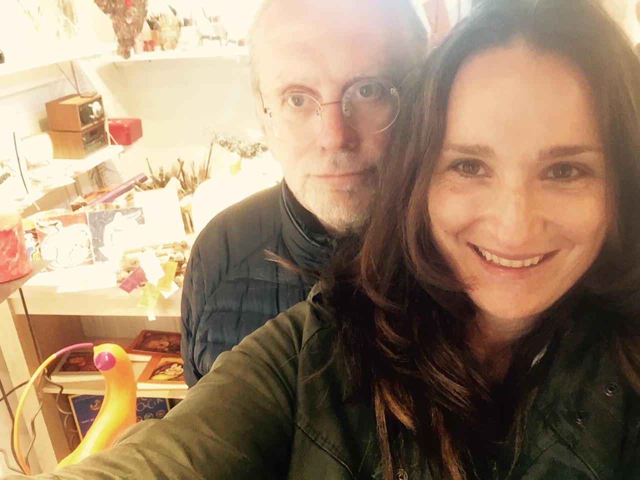 Selfie Massimo Cirri e Carlotta Parisi