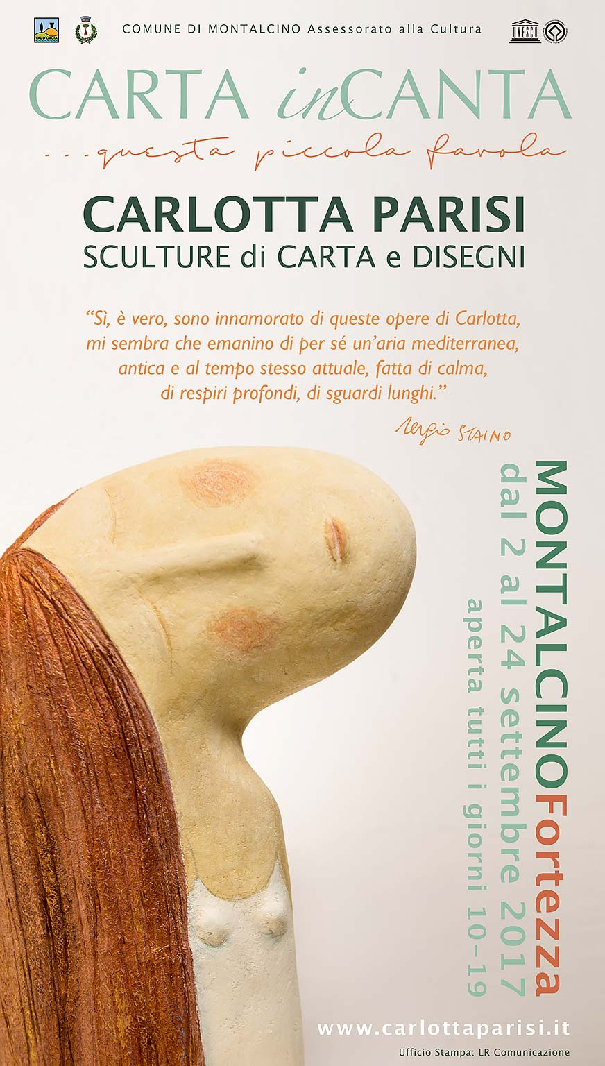 """Mostra """"CARTA inCANTA ...questa piccola favola""""! di Carlotta Parisi - Dal 2 al 24 Settembre 2017 alla Fortezza di Montalcino (SI)"""