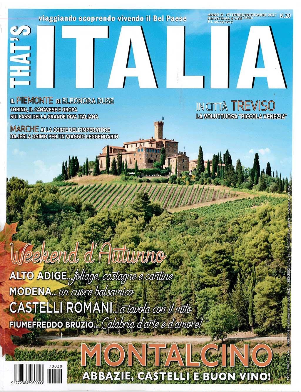 Un bellissimo articolo su That's Italia