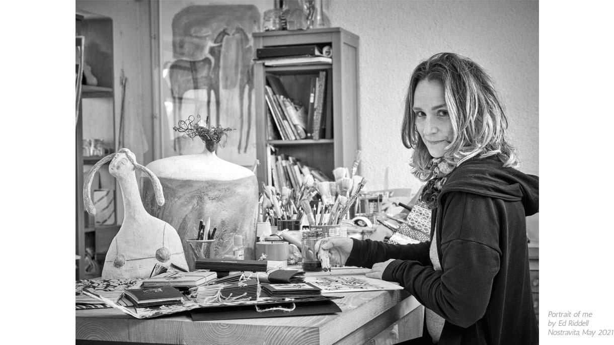 Carlotta Parisi - A portrait of me by Ed Riddle